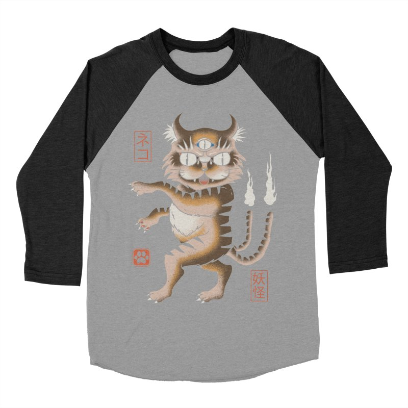 Yokai Cat Men's Baseball Triblend T-Shirt by vincenttrinidad's Artist Shop
