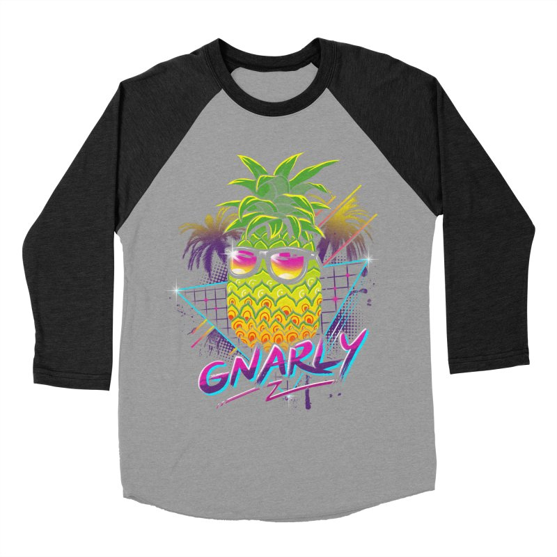Rad Pineapple Men's Baseball Triblend T-Shirt by vincenttrinidad's Artist Shop
