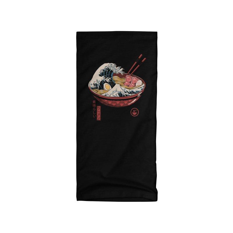 Great Ramen Wave Accessories Neck Gaiter by Vincent Trinidad Art