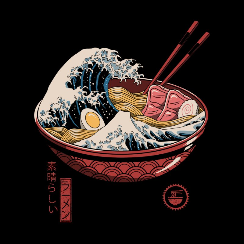 Great Ramen Wave Men's T-Shirt by Vincent Trinidad Art
