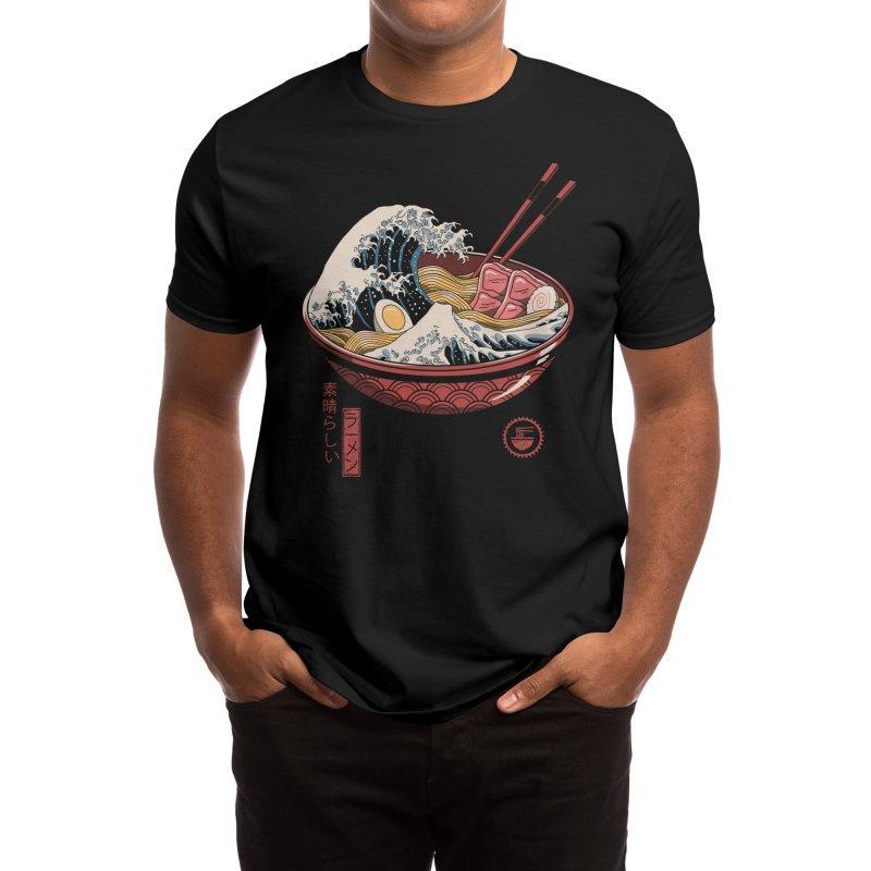 Great Ramen Wave Men's T-Shirt by Vincent Trinidad Art