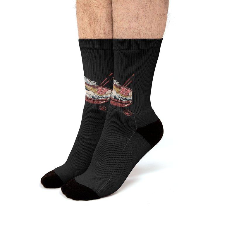 Great Ramen Wave Men's Socks by Vincent Trinidad Art