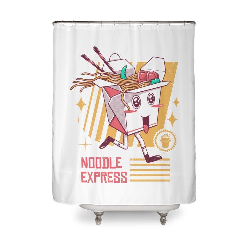 Noodle Express Home Shower Curtain by vincenttrinidad's Artist Shop