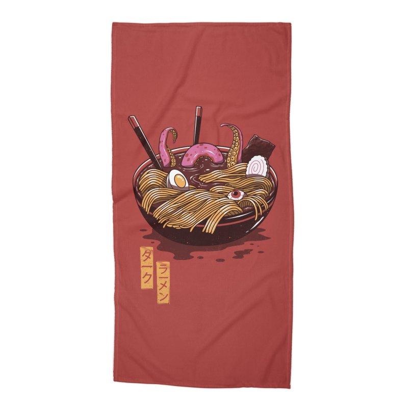 Dark Ramen Accessories Beach Towel by vincenttrinidad's Artist Shop