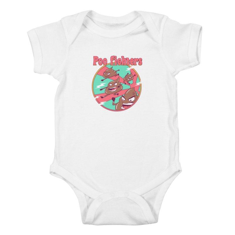 Poo Fighters Kids Baby Bodysuit by vincenttrinidad's Artist Shop