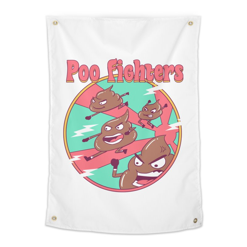 Poo Fighters Home Tapestry by vincenttrinidad's Artist Shop