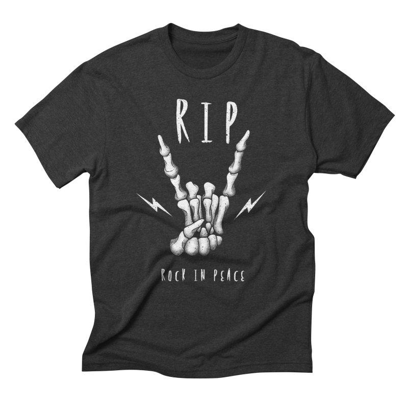 Rock in Peace Men's Triblend T-Shirt by vincenttrinidad's Artist Shop