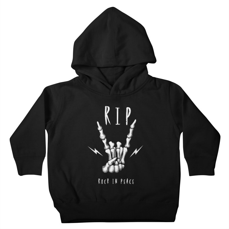 Rock in Peace Kids Toddler Pullover Hoody by vincenttrinidad's Artist Shop