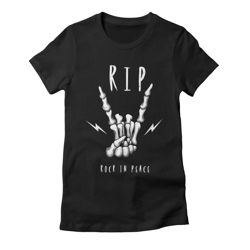 Rock in Peace Women's Fitted T-Shirt by vincenttrinidad's Artist Shop