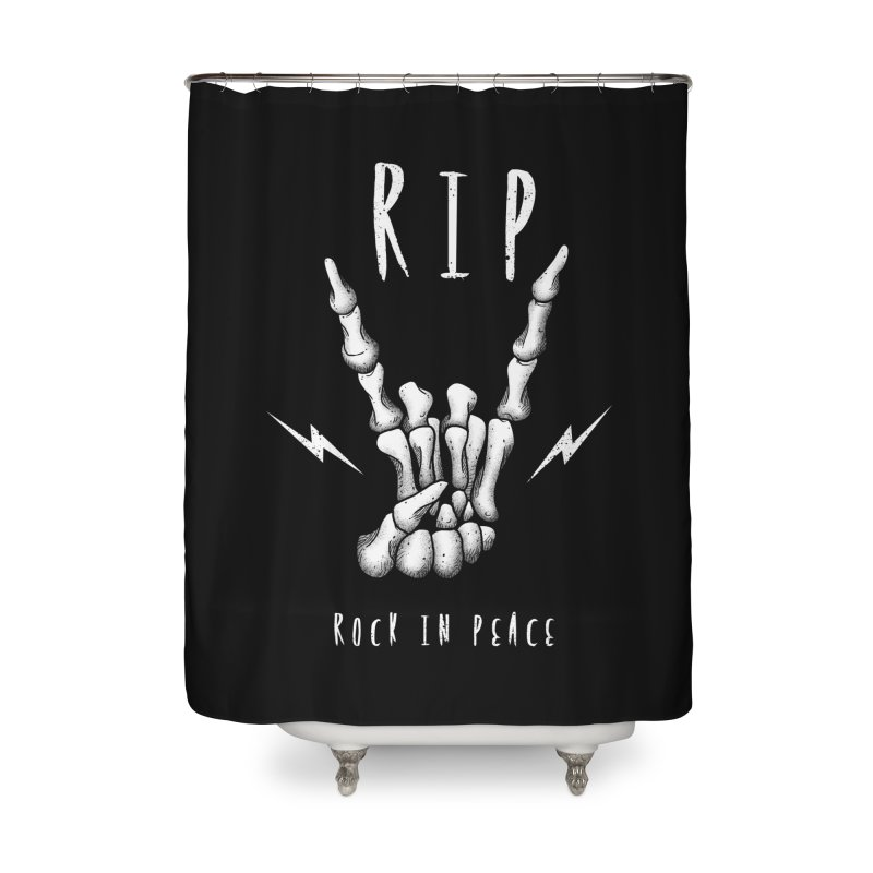 Rock in Peace Home Shower Curtain by vincenttrinidad's Artist Shop