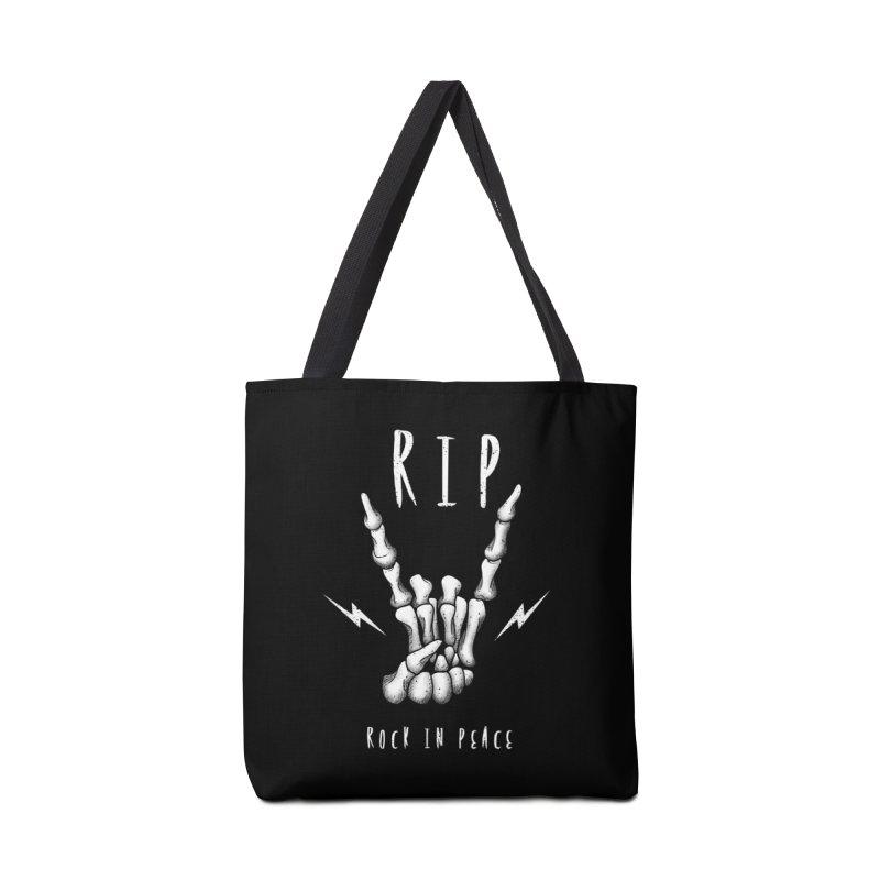 Rock in Peace Accessories Bag by vincenttrinidad's Artist Shop