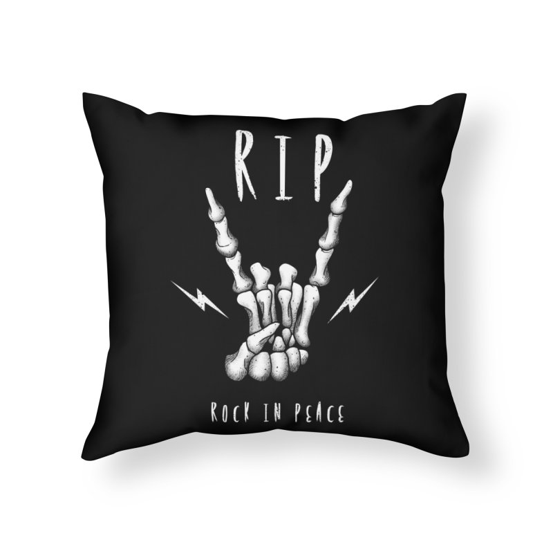 Rock in Peace Home Throw Pillow by vincenttrinidad's Artist Shop