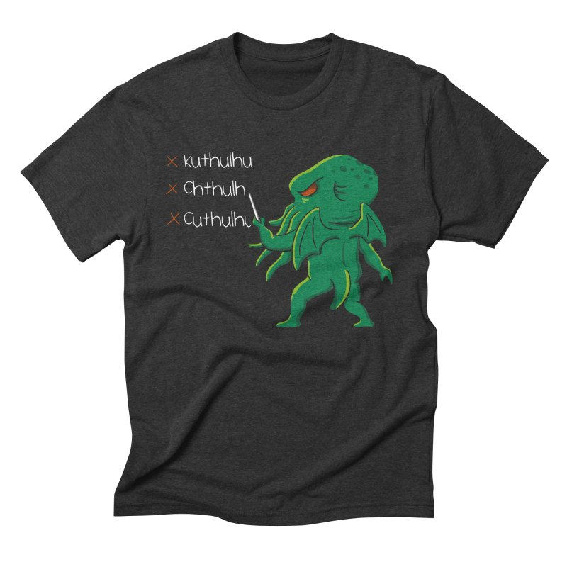 Crafty Spelling Men's Triblend T-Shirt by vincenttrinidad's Artist Shop
