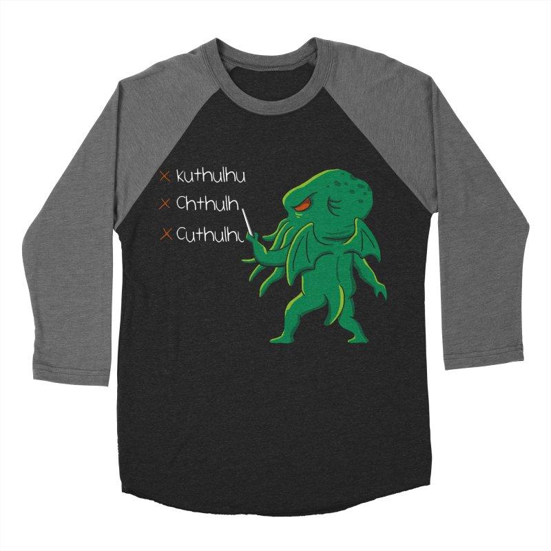 Crafty Spelling Men's Baseball Triblend T-Shirt by vincenttrinidad's Artist Shop