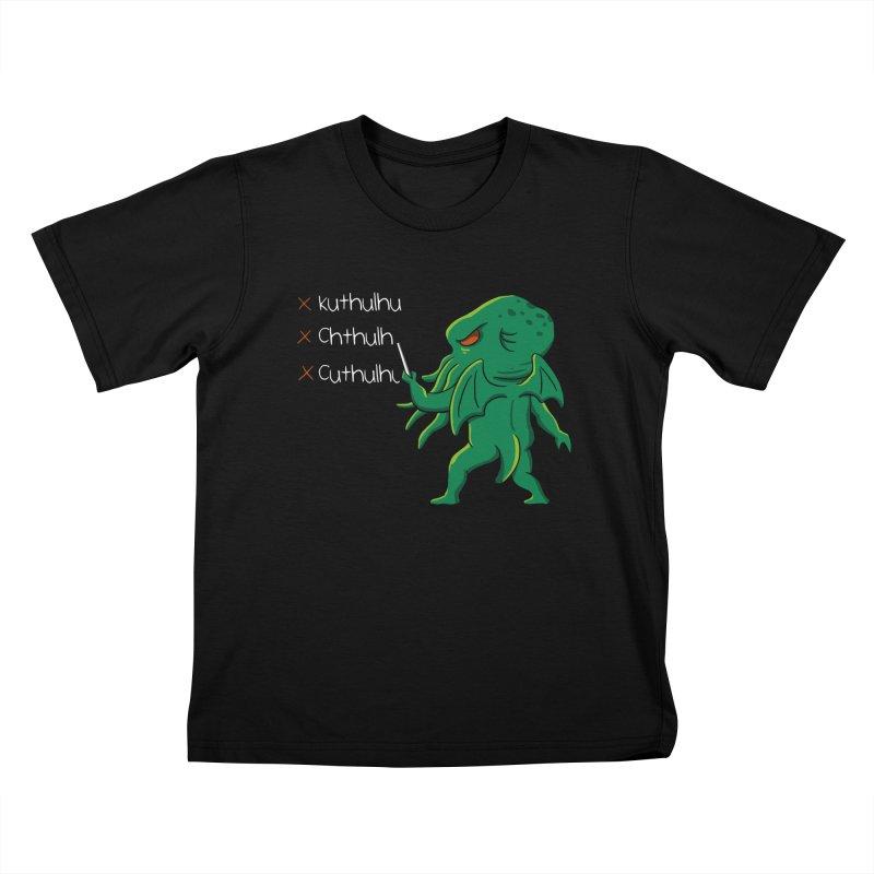 Crafty Spelling Kids T-Shirt by vincenttrinidad's Artist Shop