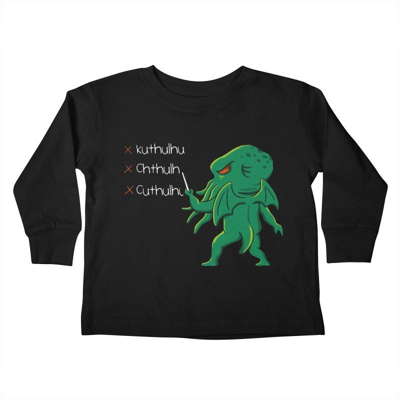 Crafty Spelling Kids Toddler Longsleeve T-Shirt by vincenttrinidad's Artist Shop
