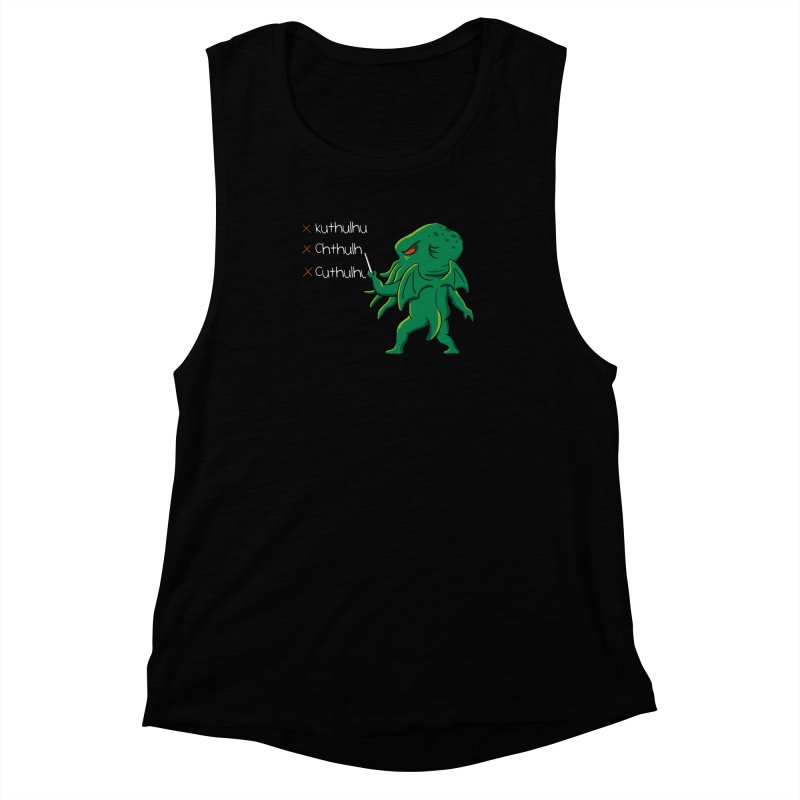 Crafty Spelling Women's Muscle Tank by vincenttrinidad's Artist Shop