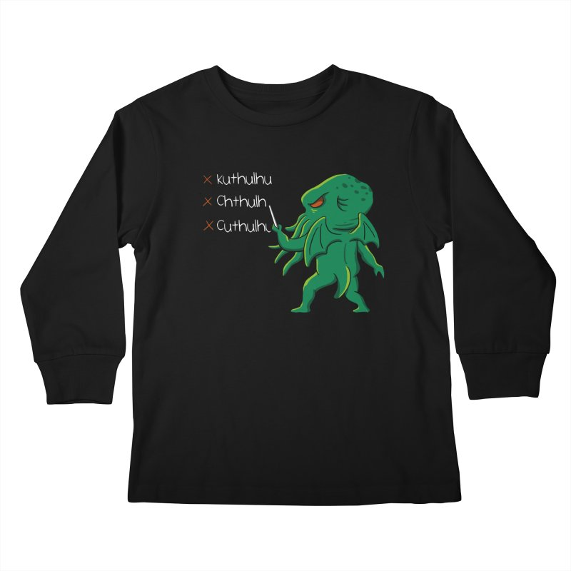 Crafty Spelling Kids Longsleeve T-Shirt by vincenttrinidad's Artist Shop