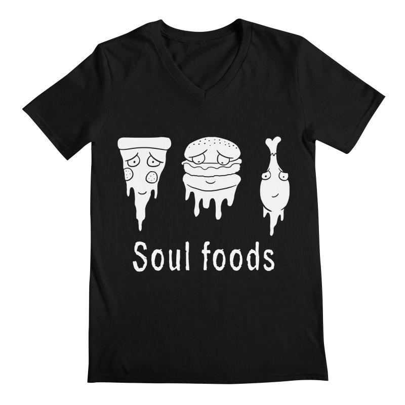 Soul Foods Men's V-Neck by vincenttrinidad's Artist Shop