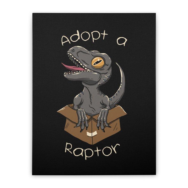 Adopt a Raptor Home Stretched Canvas by vincenttrinidad's Artist Shop