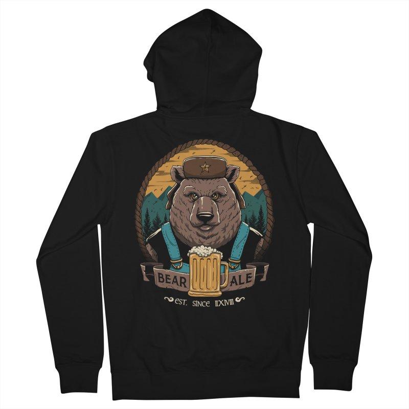 Beer & Bear Men's Zip-Up Hoody by vincenttrinidad's Artist Shop