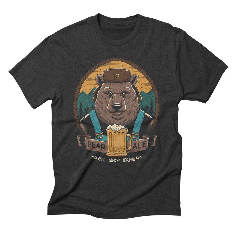 Beer & Bear Men's Triblend T-Shirt by vincenttrinidad's Artist Shop