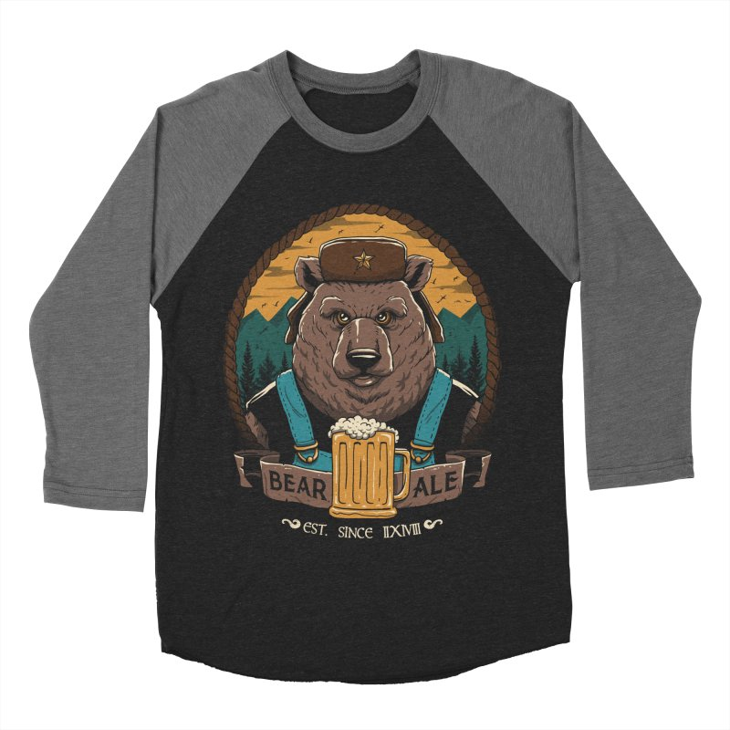 Beer & Bear Men's Baseball Triblend T-Shirt by vincenttrinidad's Artist Shop