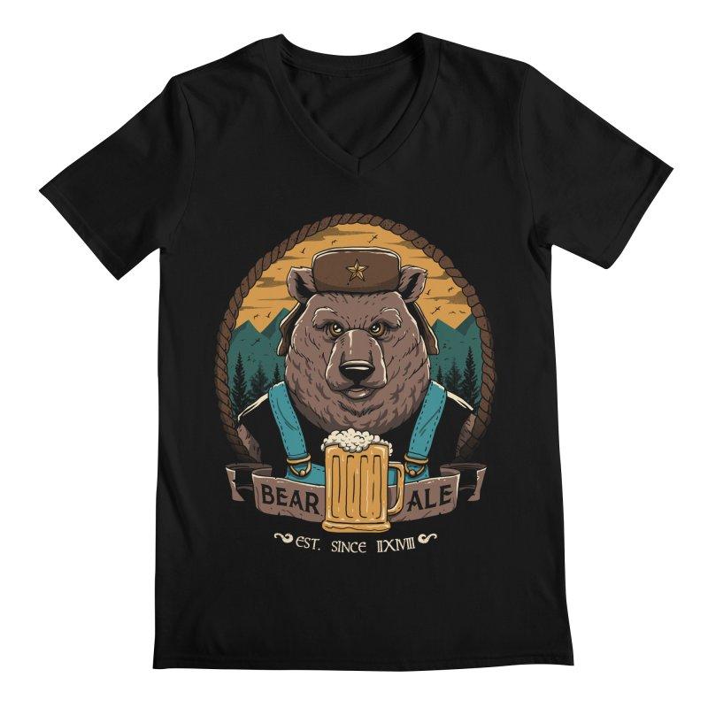 Beer & Bear Men's V-Neck by vincenttrinidad's Artist Shop