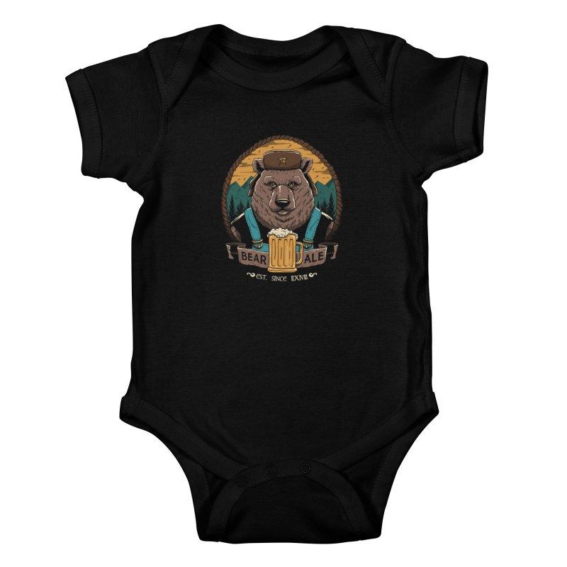 Beer & Bear Kids Baby Bodysuit by vincenttrinidad's Artist Shop