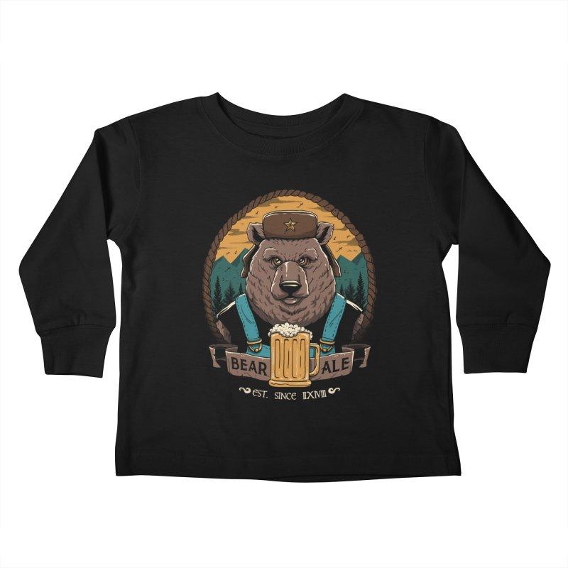 Beer & Bear Kids Toddler Longsleeve T-Shirt by vincenttrinidad's Artist Shop