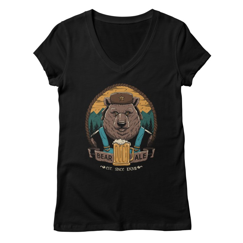 Beer & Bear Women's V-Neck by vincenttrinidad's Artist Shop