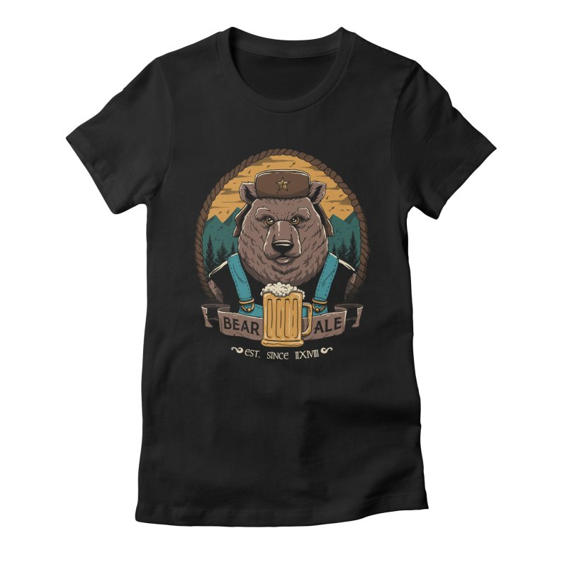 Beer & Bear Women's Fitted T-Shirt by vincenttrinidad's Artist Shop