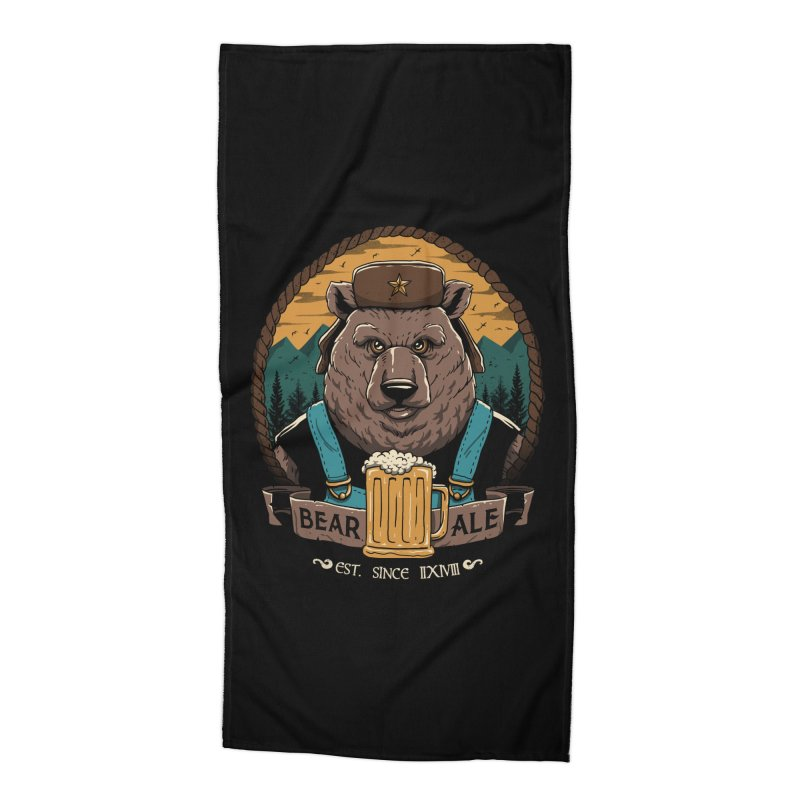 Beer & Bear Accessories Beach Towel by vincenttrinidad's Artist Shop