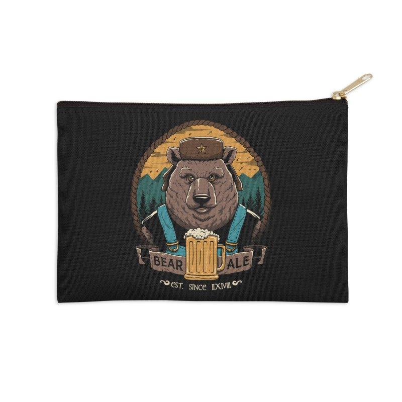 Beer & Bear Accessories Zip Pouch by vincenttrinidad's Artist Shop