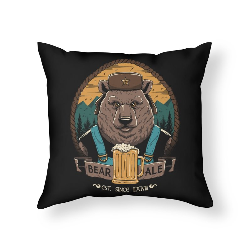 Beer & Bear Home Throw Pillow by vincenttrinidad's Artist Shop