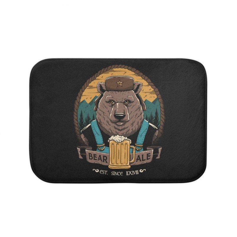 Beer & Bear Home Bath Mat by vincenttrinidad's Artist Shop