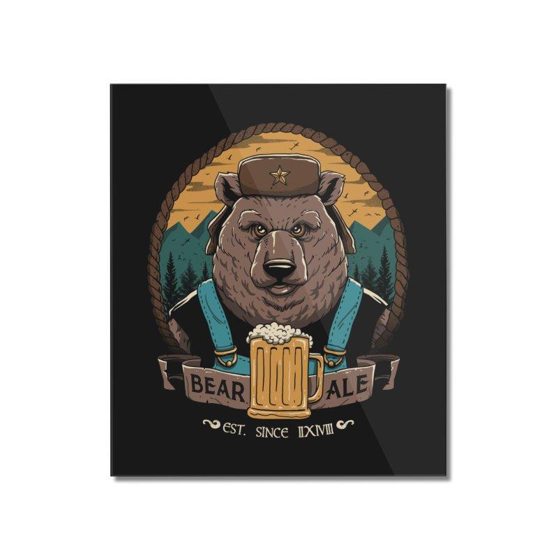 Beer & Bear Home Mounted Acrylic Print by vincenttrinidad's Artist Shop