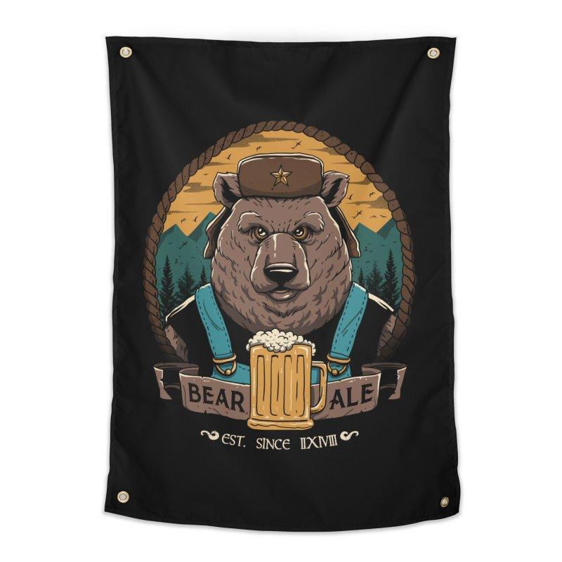 Beer & Bear Home Tapestry by vincenttrinidad's Artist Shop