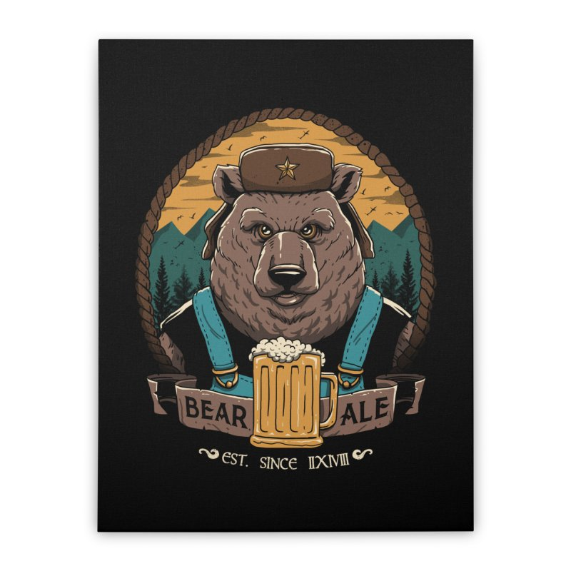 Beer & Bear Home Stretched Canvas by vincenttrinidad's Artist Shop