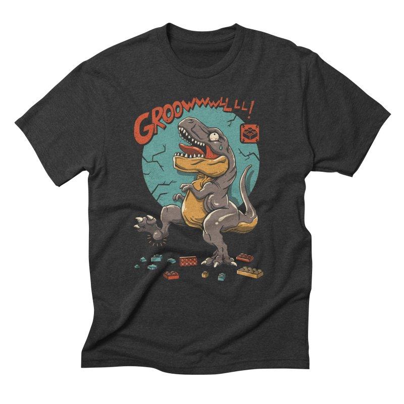 Wrong Dino Stomp Men's Triblend T-Shirt by vincenttrinidad's Artist Shop