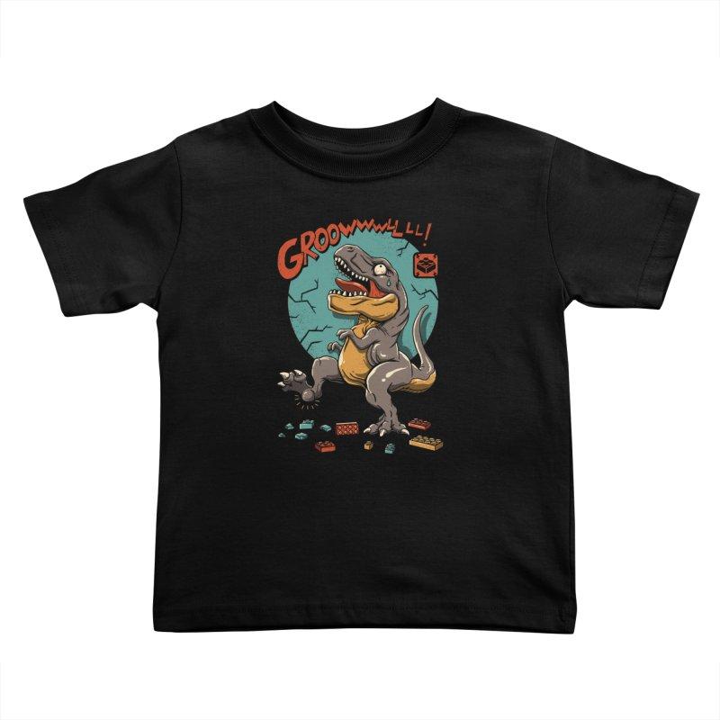 Wrong Dino Stomp Kids Toddler T-Shirt by vincenttrinidad's Artist Shop