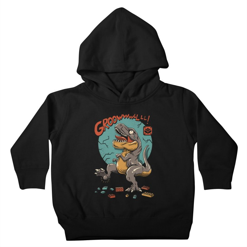Wrong Dino Stomp Kids Toddler Pullover Hoody by vincenttrinidad's Artist Shop
