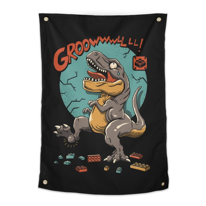 Wrong Dino Stomp Home Tapestry by vincenttrinidad's Artist Shop