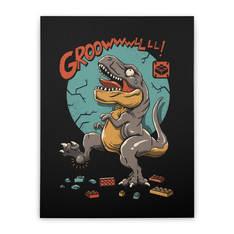 Wrong Dino Stomp Home Stretched Canvas by vincenttrinidad's Artist Shop