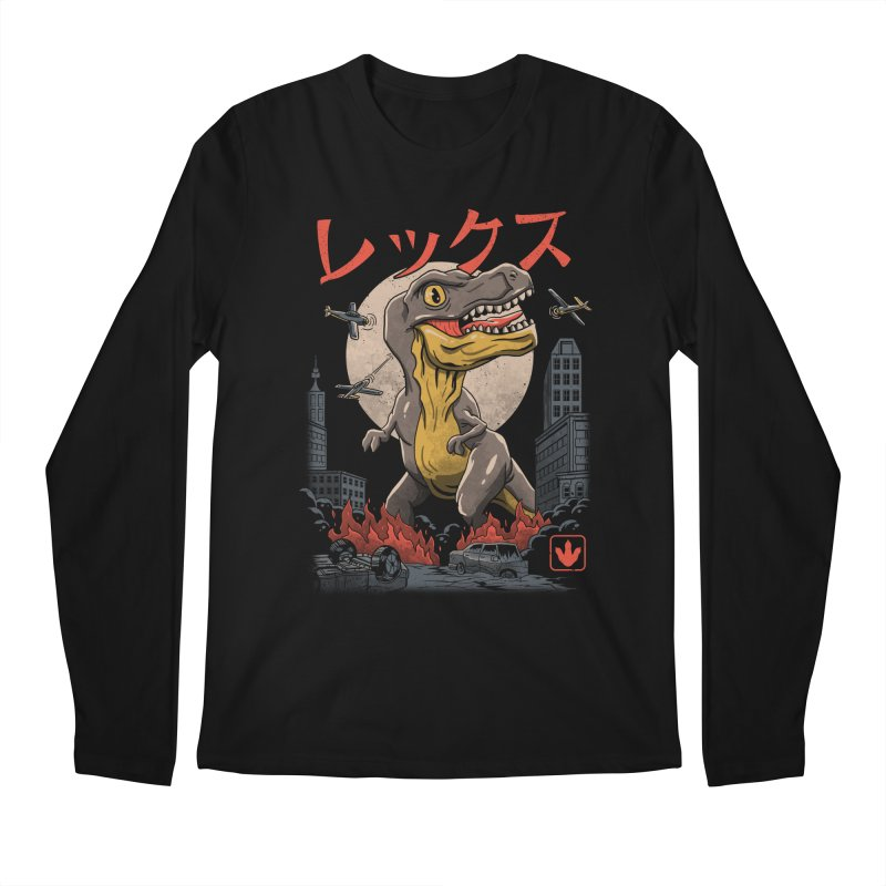 Kaiju T-Rex Men's Longsleeve T-Shirt by vincenttrinidad's Artist Shop