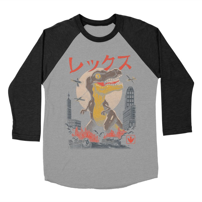 Kaiju T-Rex Women's Baseball Triblend T-Shirt by vincenttrinidad's Artist Shop