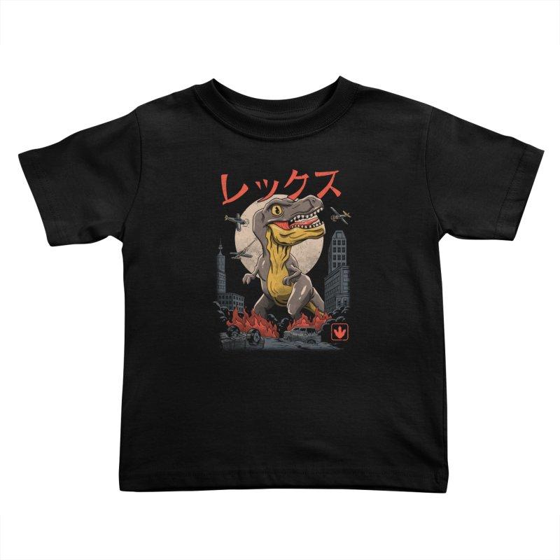 Kaiju T-Rex Kids Toddler T-Shirt by vincenttrinidad's Artist Shop