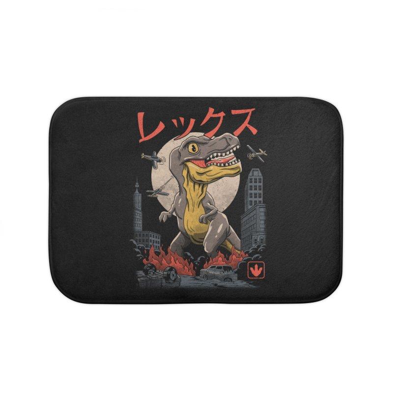 Kaiju T-Rex Home Bath Mat by vincenttrinidad's Artist Shop