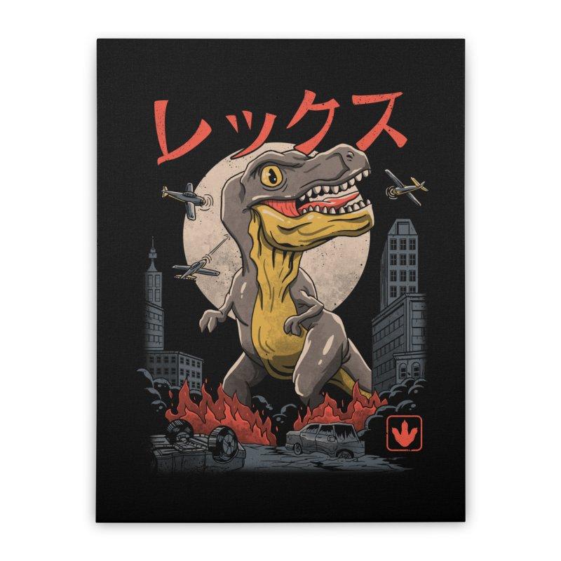 Kaiju T-Rex Home Stretched Canvas by vincenttrinidad's Artist Shop