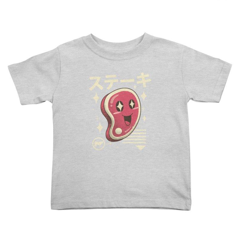 Kawaii Steak Kids Toddler T-Shirt by vincenttrinidad's Artist Shop